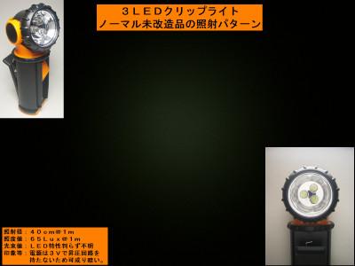 3LEDクリップライト未改造