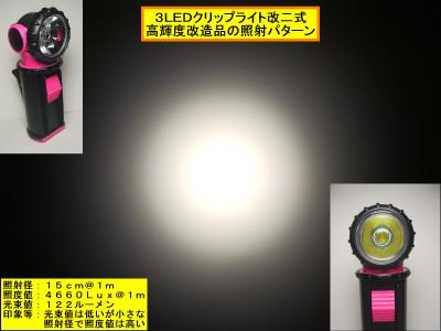 3LEDクリップライト改二式パターン